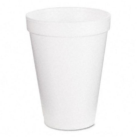 Dart 12J12 Drink Foam Cups- 12 oz.- White- 40 Bags of 25/Carton