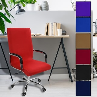 Swivel Computer Chair Cover Washable Removable Office Armchair Seat Slipcover