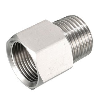 "Pressure Gauge Adapter, Pipe Fitting, 1/2"" Male Pipe x M20 Female Pipe with O-ring - G1/2"" x M20"