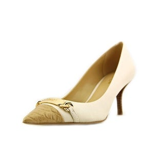 Coach Bowery Pointed Toe Leather Heels