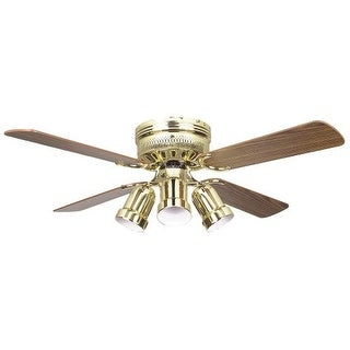 Concord 42HUG4-Y408 4 Blade 42 Inch Hugger Indoor Ceiling Fan with Bullet Light Kit