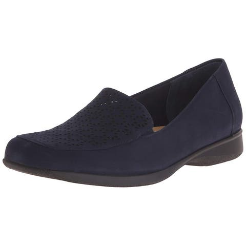 Trotters Womens Jenn Leather Closed Toe Slide Flats