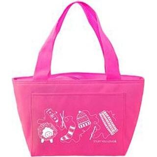 "Hot Pink - K1c2 Knit Happy Petite Project Bag 13""X8""X5"""