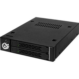 """Icy Dock MB992SK-B Icy Dock MB992SK-B Drive Bay Adapter Internal - Matte Black - 2 x Total Bay - 2 x 2.5"" Bay"""