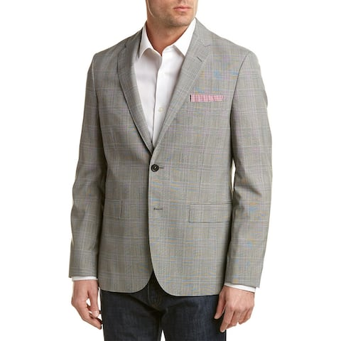 Brooks Brothers Red Fleece Traditional Relaxed Fit Wool Sport Coat - Grey*