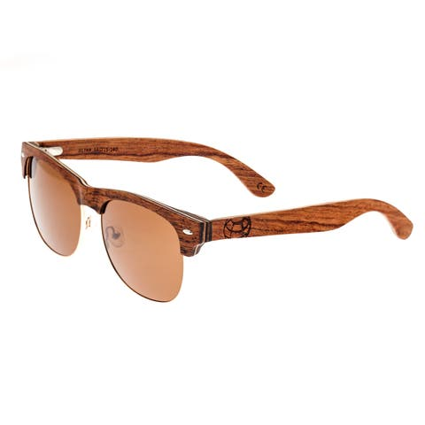 Earth Wood Moonstone Unisex Wood Sunglasses - 100% UVA/UVB Prorection - Polarized Lens - Multi