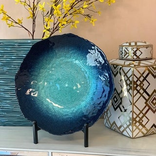Seaburst 15.75 Inches Wide Glass Charger Plate