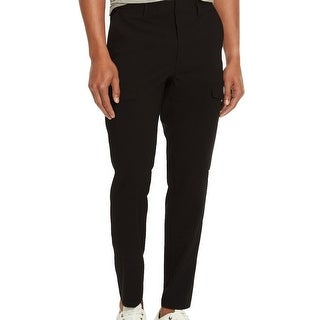 Kenneth Cole Reaction NEW Men's Black Size 31X30 Slim Leg Cargo Pants
