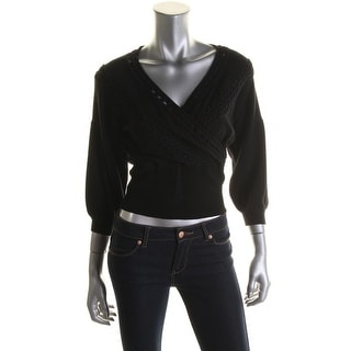 Catherine Malandrino Womens Wool Blend Applique Pullover Sweater - S
