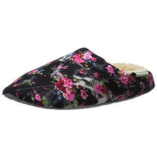 Bedroom Athletics Womens Eliza Canvas Floral Print Slip-On Slippers