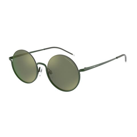 Emporio Armani EA2112 60356R 50 Shiny Green Woman Round Sunglasses