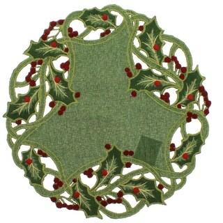 Green Round Holly Doily