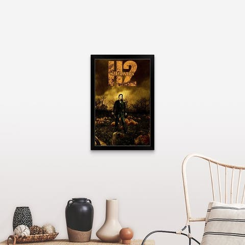 """Halloween 2 (2009)"" Black Framed Print"
