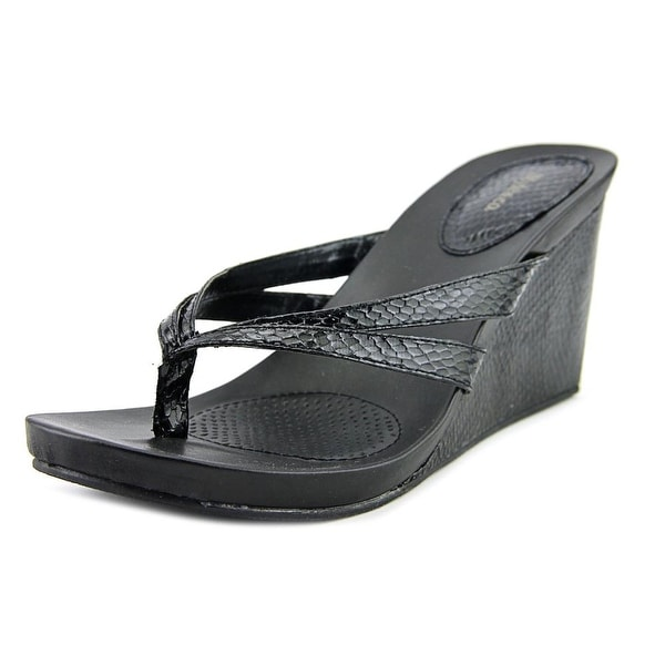 Style & Co Cassiee Open Toe Leather Wedge Sandal