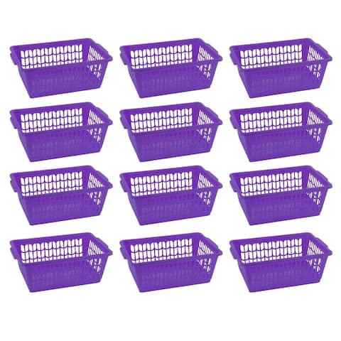 Small Plastic Storage Basket for Organizing Kitchen Pantry, Pack of 12