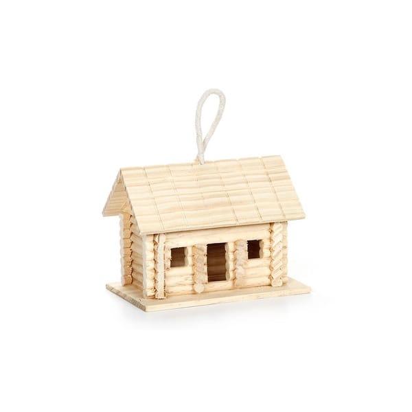 Shop Darice Wood Log Cabin Birdhouse Unfin 6x4 5x4 Overstock 14968668