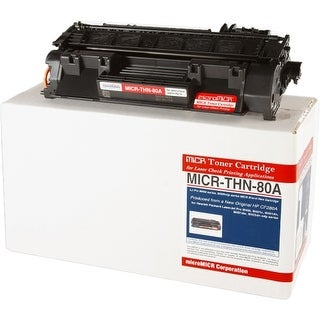 """Micromicr MICRTHN80A Micromicr MICR Toner Cartridge - Replacement for HP (CF280A) - Black - Laser - 2700 Page - 1 Each"""