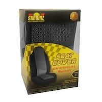 Simoniz Universal Bucket Seat Cover, Black and Gray