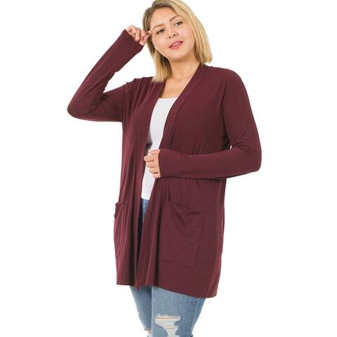 JED Women's Long Sleeve Knit Cardigan with Pockets
