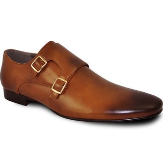 BRAVO Men Dress Shoe KLEIN-5 Loafer Shoe Tan with Leather Lining (Option: 6)