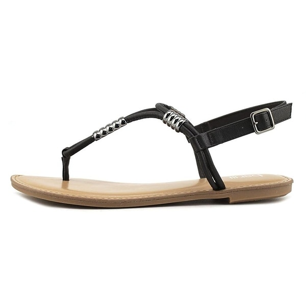Bar III Womens Vortex Leather Open Toe Casual T-Strap Sandals - 5