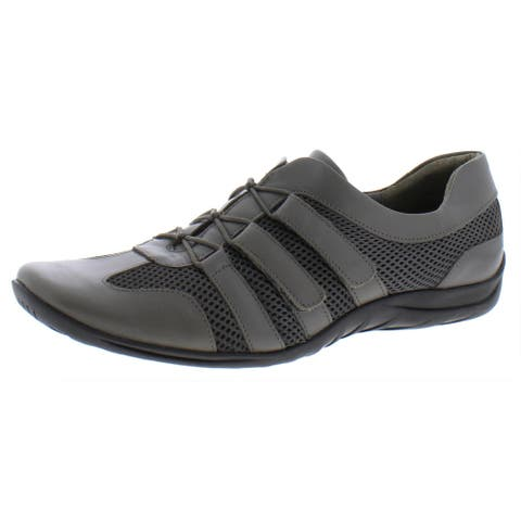 Walking Cradles Womens Audio Fashion Sneakers Leather Athleisure - Grey