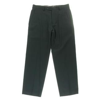 Sean John Mens Herringbone Flat Front Dress Pants