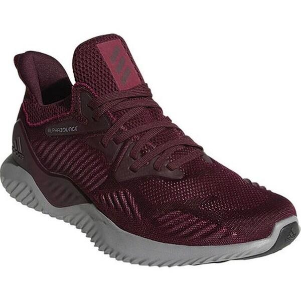 0876cae6b9199 adidas Men  x27 s Alphabounce Beyond Running Shoe Maroon Maroon Mystery Ruby