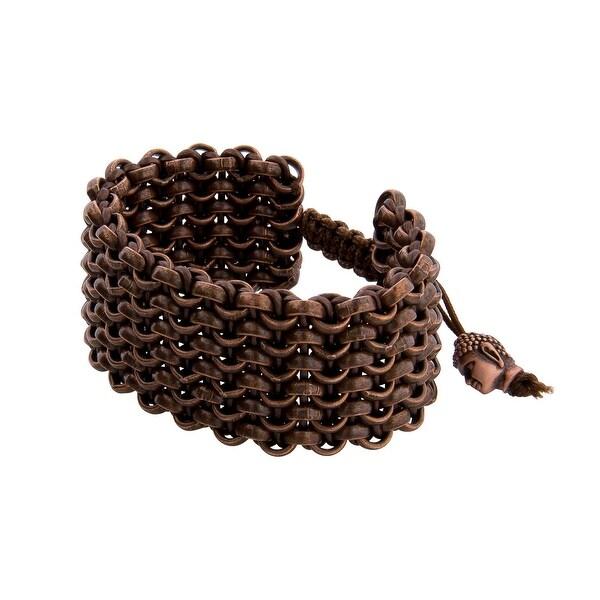Links Women's Brown Six Row Bracelet in Copper Oxide Plate