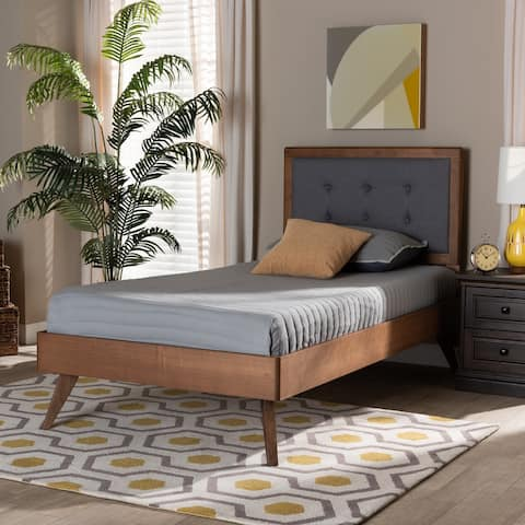 Alida Mid-Century Modern Twin Size Platform Bed