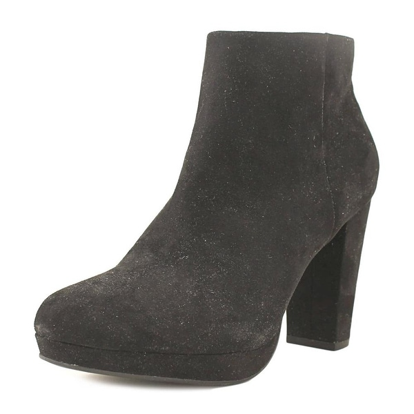 New Directions Jenny Women Round Toe Canvas Black Bootie