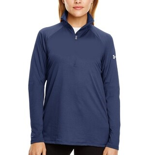 Women's Under Armour 130132 UA Tech Quarter Zip Navy Large