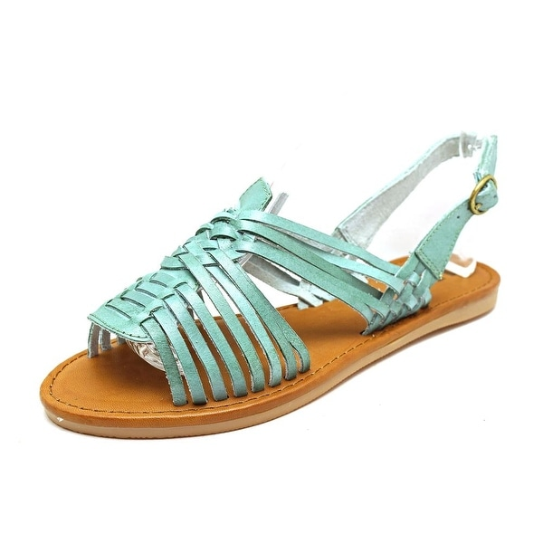 Mia Heritage Budapest Women Open-Toe Leather Blue Slingback Sandal