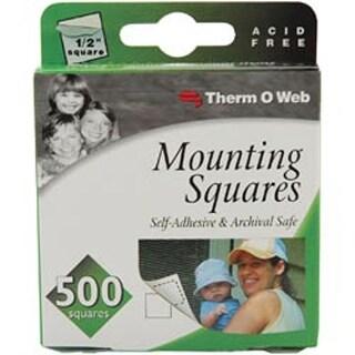 "White .5"" - Mounting Squares 500/Pkg"