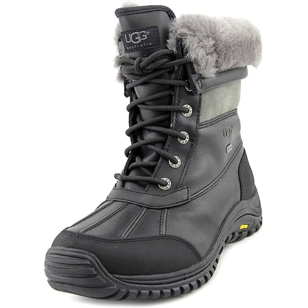 Ugg Australia Adirondack II Women Round Toe Leather Black Winter Boot