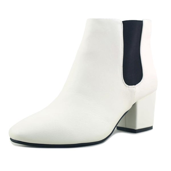 Bamboo Upscale Women Round Toe Synthetic Ivory Ankle Boot