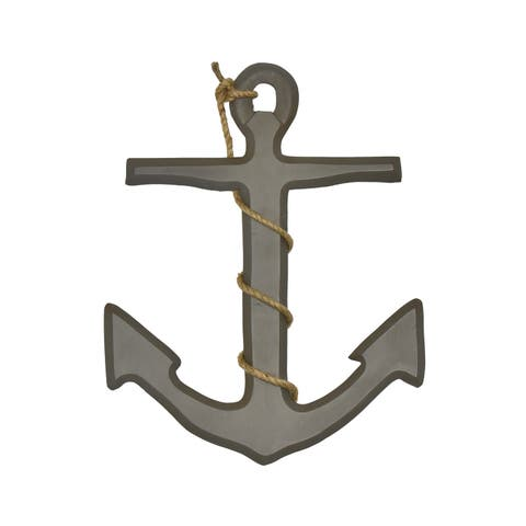 "Brewster D4356 Fetco Ahoy Anchor 18"" x 14"" Nautical and Ocean MDF Wall Sculpture"