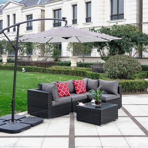 Luxton 5-Piece Sectional Patio Conversation Set with Cushions