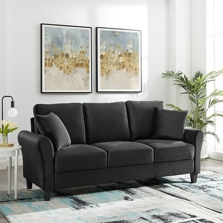 Link to 82 Inch Couch Sofa Modern Velvet  Sofa 3 Seater Couch for Living Room Similar Items in Sofas & Couches