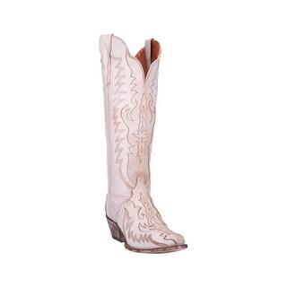 "Dan Post Western Boots Womens 16"" Shaft Hallie Snip Toe Bone"