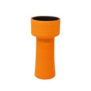 Appealing Orange Decorative Ceramic Vase