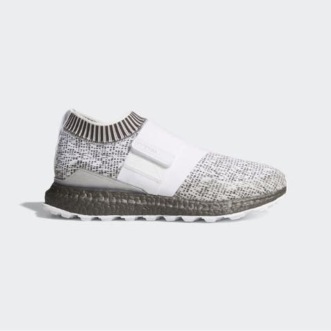 New Men's Adidas Crossknit 2.0 Cloud White/Cloud White/Boost Trace Grey Golf Shoes F33735