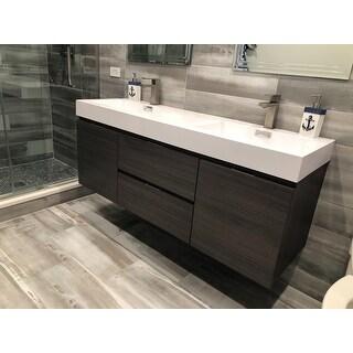Shop Kubebath Bliss 59 Inch Double Sink Bathroom Vanity Free Shipping Today Overstock 11916062