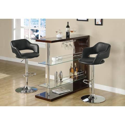 Black Chrome Metal Hydraulic Lift Barstool