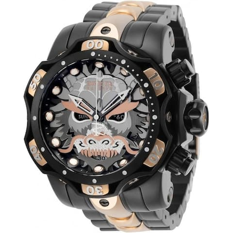 Invicta Men's 30400 'Reserve' Venom Black and Rose-tone Inserts Stainless Steel Watch