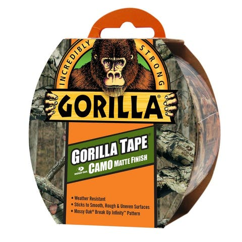 """Gorilla 6010902 Incredibly Strong Camo Duct Tape, Mossy Oak, 1.88"""" x 9 Yd"""