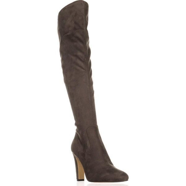 Ivanka Trump Smith Over The Knee Dress Boots, Gray