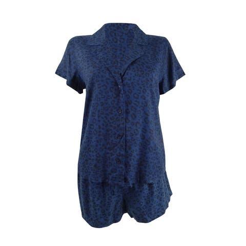 Jenni by Jennifer Moore Women's 2-PC. Printed Top & Shorts Pajama Set