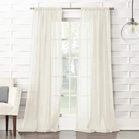 No. 918 Ladonna Crushed Texture Semi-Sheer Rod Pocket Curtain Panel