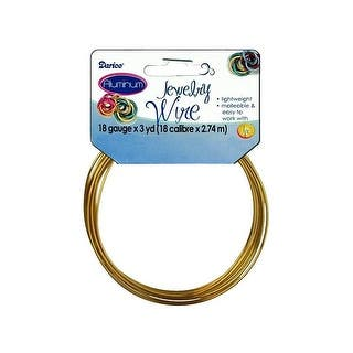 Darice Jewelry Wire Aluminum 18Ga 3yd Gold|https://ak1.ostkcdn.com/images/products/is/images/direct/1ec56e509f6e81398bf55ee4a2471f47b0cec46d/Darice-Jewelry-Wire-Aluminum-18Ga-3yd-Gold.jpg?impolicy=medium